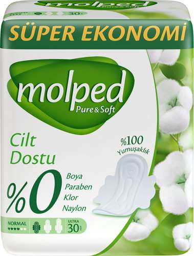 Molped Pure & Soft Normal  Hijyenik Ped 30 Adet